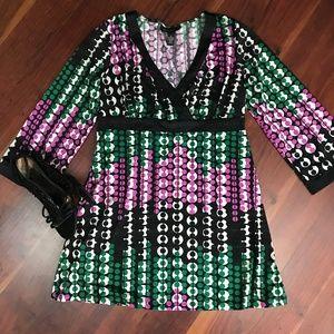 INC Womens Medium Knit Top Tunic Polka Dot